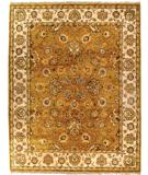 RugStudio presents Due Process Thana Agra Gold-Ivory Hand-Knotted, Best Quality Area Rug