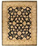 RugStudio presents Due Process Thana Agra Graphite-Fawn Hand-Knotted, Best Quality Area Rug