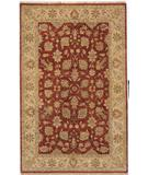 RugStudio presents Due Process Thana II Kashan Tomato-Beige Hand-Knotted, Best Quality Area Rug