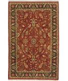 RugStudio presents Due Process Thana II Oushak Red-Navy Hand-Knotted, Best Quality Area Rug