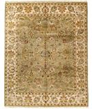 RugStudio presents Due Process Thana Kashan Light Green-Cream Hand-Knotted, Best Quality Area Rug