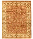 RugStudio presents Due Process Thana Oushak Brick-Cream Hand-Knotted, Best Quality Area Rug