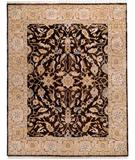 RugStudio presents Due Process Thana Oushak Chestnut-Cream Hand-Knotted, Best Quality Area Rug