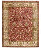 RugStudio presents Due Process Thana Oushak Claret-Ivory Hand-Knotted, Best Quality Area Rug