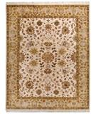 RugStudio presents Due Process Thana Tabriz Ivory-Gold Hand-Knotted, Best Quality Area Rug