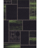 RugStudio presents Dynamic Rugs Vintage 4688-6f06 Black / Green Hand-Tufted, Good Quality Area Rug