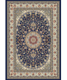 RugStudio presents Dynamic Rugs Ancient Garden 57119-3434 Blue / Ivory Woven Area Rug