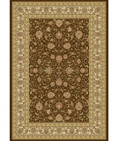 RugStudio presents Dynamic Rugs Ancient Garden 57120-3767 Chocolate / Ivory Woven Area Rug