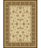 RugStudio presents Dynamic Rugs Ancient Garden 57120-6737 Ivory / Chocolate Woven Area Rug