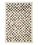 RugStudio presents Dynamic Rugs Leather Work 8100-106 White/Natural Area Rug