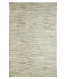 RugStudio presents Dynamic Rugs Leather Work 8109-100 Ivory Hand-Tufted, Good Quality Area Rug