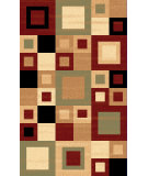 RugStudio presents Dynamic Rugs Yazd 8960-340 Red Sage Machine Woven, Good Quality Area Rug
