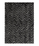 RugStudio presents Dynamic Rugs Aria 1222-109 Black / Ivory Hand-Tufted, Best Quality Area Rug