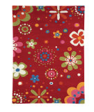 RugStudio presents Dynamic Rugs Fantasia 1705-300 Red Hand-Tufted, Good Quality Area Rug