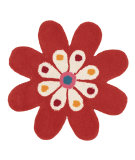 RugStudio presents Dynamic Rugs Flower 1706-030 Hand-Tufted, Good Quality Area Rug