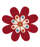 RugStudio presents Dynamic Rugs Flower 1706-300 Hand-Tufted, Good Quality Area Rug