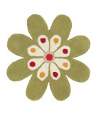 RugStudio presents Dynamic Rugs Flower 1706-400 Hand-Tufted, Good Quality Area Rug