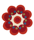 RugStudio presents Dynamic Rugs Flower 1707-300 Hand-Tufted, Good Quality Area Rug