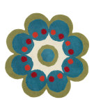 RugStudio presents Dynamic Rugs Flower 1707-500 Hand-Tufted, Good Quality Area Rug
