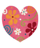 RugStudio presents Dynamic Rugs Heart 1708-200 Hand-Tufted, Good Quality Area Rug