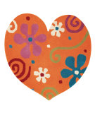 RugStudio presents Dynamic Rugs Heart 1708-770 Hand-Tufted, Good Quality Area Rug