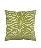 RugStudio presents Elaine Smith Outdoor Pillow Zebra Lime GO1