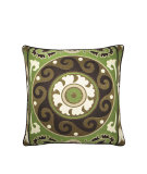 RugStudio presents Elaine Smith Outdoor Pillow Suzani Verde LQ1