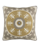RugStudio presents Elaine Smith Outdoor Pillow Jeweled Sedona Gold ME1C