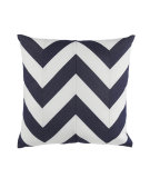 RugStudio presents Elaine Smith Outdoor Pillow Chevron Navy MZ1