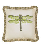 RugStudio presents Elaine Smith Outdoor Pillow Dragonfly Peridot ODF2