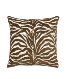 RugStudio presents Elaine Smith Outdoor Pillow Zebra Chocolate OE5