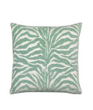 RugStudio presents Elaine Smith Outdoor Pillow Zebra Aqua TE8
