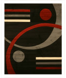 RugStudio presents Eastern Rugs Divinity Div5600 Black Machine Woven, Good Quality Area Rug
