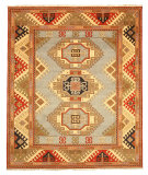 RugStudio presents Eastern Rugs Premier Kzk11bl Blue Hand-Knotted, Good Quality Area Rug
