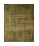 RugStudio presents Eastern Rugs Premier Ot63gn Green Hand-Knotted, Good Quality Area Rug