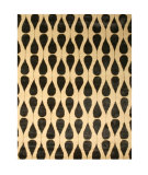RugStudio presents Eastern Rugs Odyssey Ot72bk Ivory/Black Hand-Tufted, Good Quality Area Rug