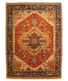 RugStudio presents Eastern Rugs Premier P10brt Rust Hand-Knotted, Good Quality Area Rug