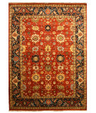 RugStudio presents Eastern Rugs Premier Sht19rt Rust Hand-Knotted, Good Quality Area Rug