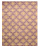 RugStudio presents Eastern Rugs Odyssey T95pp Purple/Ivory Hand-Tufted, Good Quality Area Rug