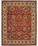 RugStudio presents Famous Maker Bastrop 100581 Red Hand-Knotted, Good Quality Area Rug