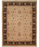 RugStudio presents Kalaty Bashir Ba-586 Ivory/Black Hand-Knotted, Good Quality Area Rug