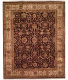 RugStudio presents Kalaty Kabir Kb-360 Eggplant/Beige Hand-Knotted, Best Quality Area Rug