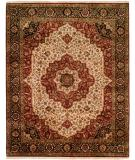 RugStudio presents Kalaty Kabir Kb-367 Ivory/Black Hand-Knotted, Best Quality Area Rug