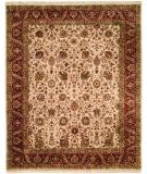 RugStudio presents Kalaty Kabir Kb-368 Beige/Red Hand-Knotted, Best Quality Area Rug