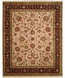 RugStudio presents Kalaty Kabir Kb-370 Ivory/Black Hand-Knotted, Best Quality Area Rug