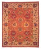 RugStudio presents Famous Maker Soumak 227 Orange Flat-Woven Area Rug