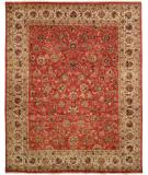 RugStudio presents Famous Maker Tablie 100480 Red Hand-Knotted, Best Quality Area Rug
