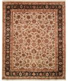 RugStudio presents Famous Maker Tablie 100482 Black Hand-Knotted, Best Quality Area Rug