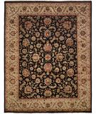 RugStudio presents Famous Maker Tablie 100483 Black Hand-Knotted, Best Quality Area Rug
