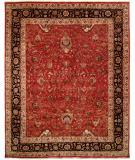 RugStudio presents Famous Maker Tablie 100484 Red Hand-Knotted, Best Quality Area Rug